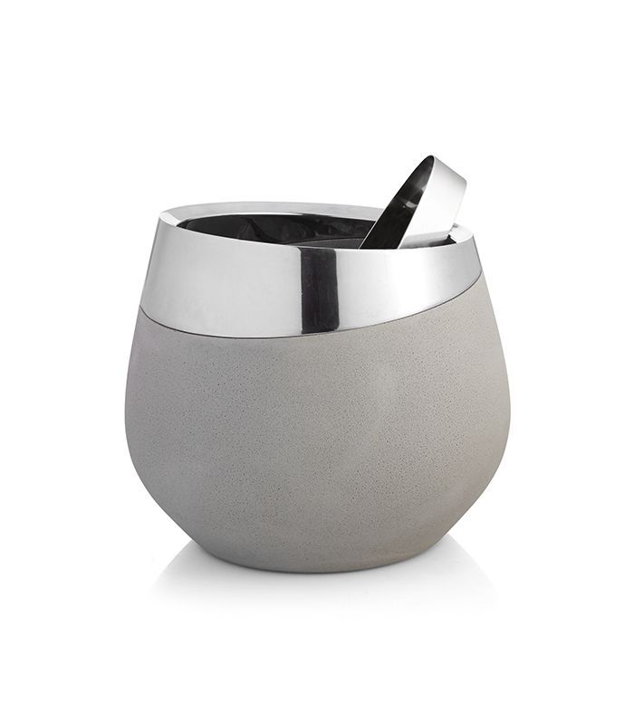 Nambé Forte Ice Bucket With Tongs