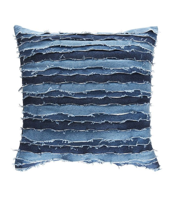 Destroyed Denim Accent Pillow