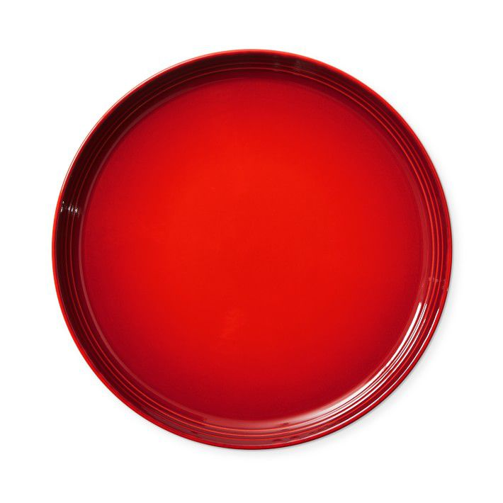 Bright red plates