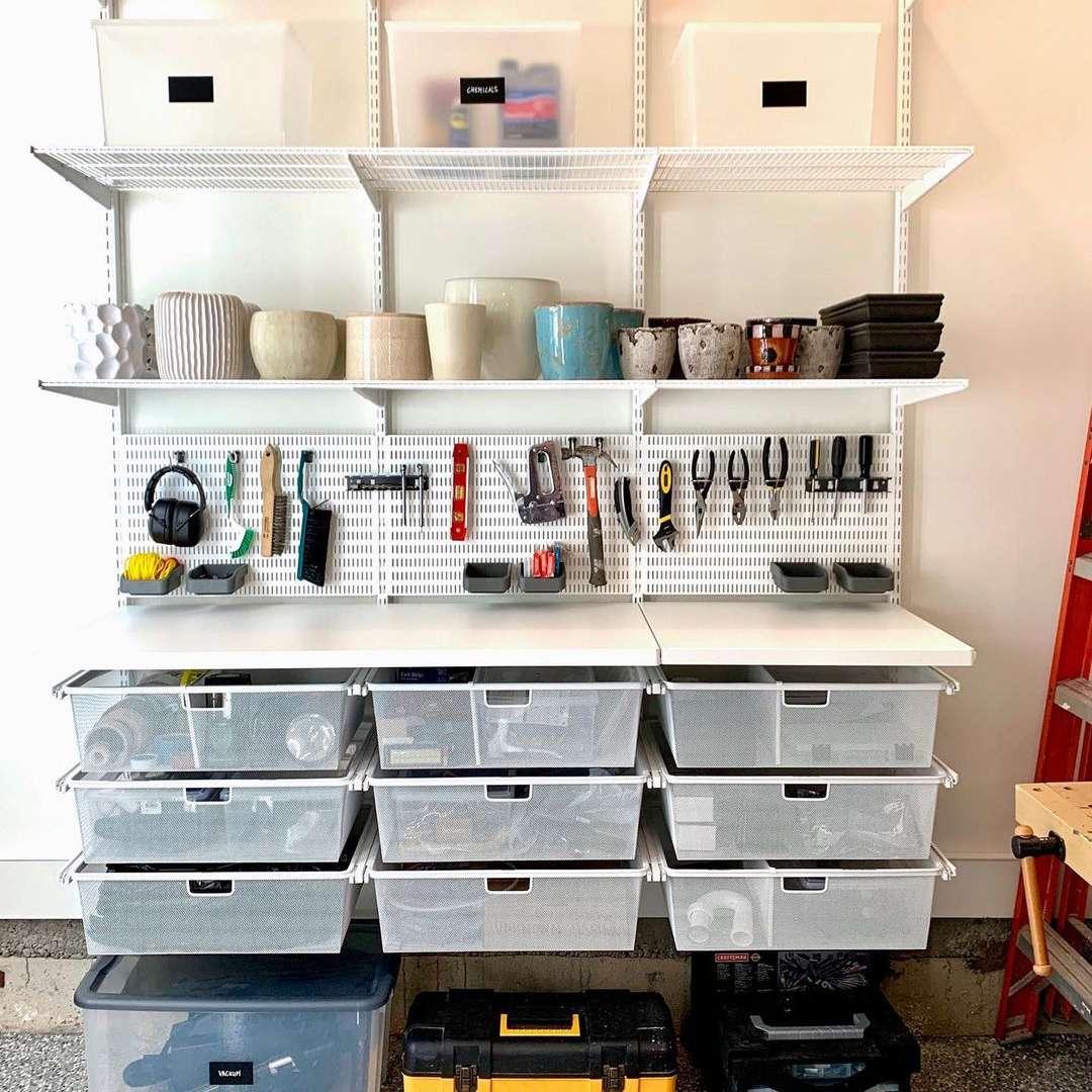 Garage workbench area