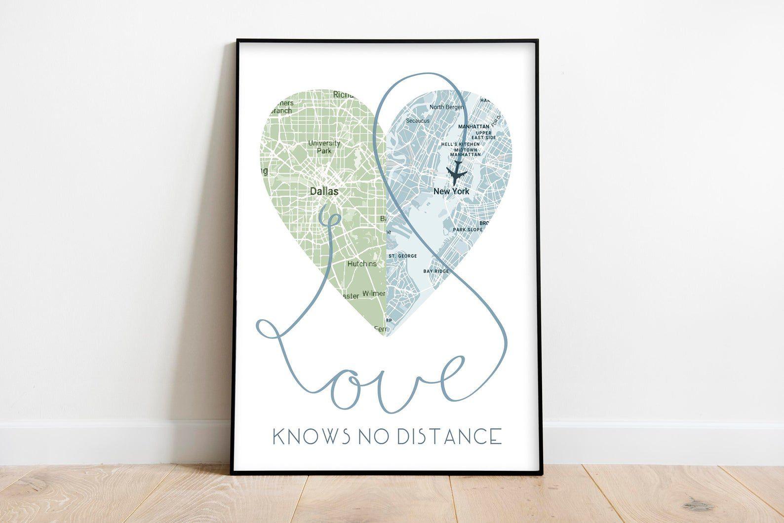 MandalynNicholeArt Love Knows No Distance Print
