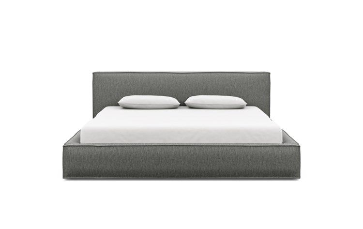 Gray Queen Fabric Bed Frame