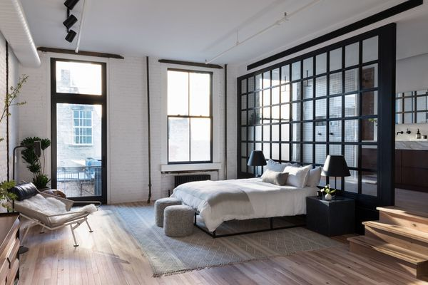 Becky Shea designed loft bedroom.