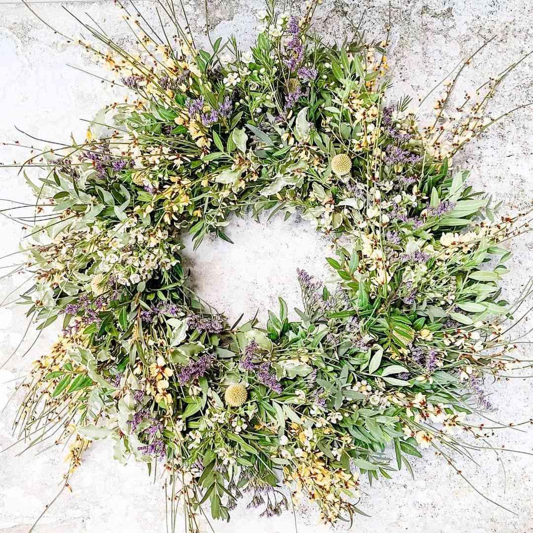 Amanda Jane Flowers spring wreath.