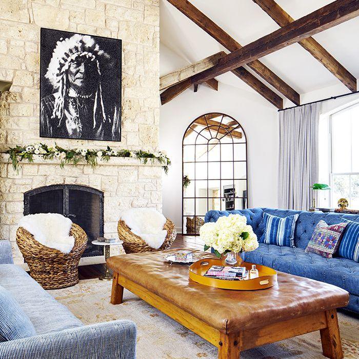 Brooklyn Decker—Rustic living room