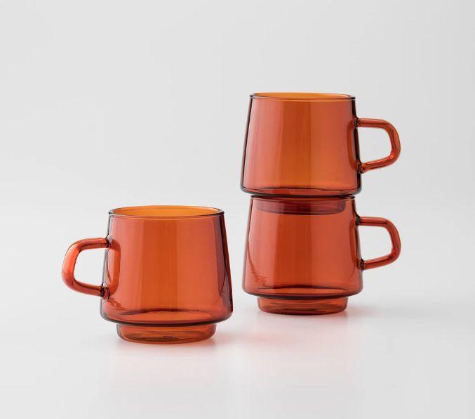 Amber Glass Mugs