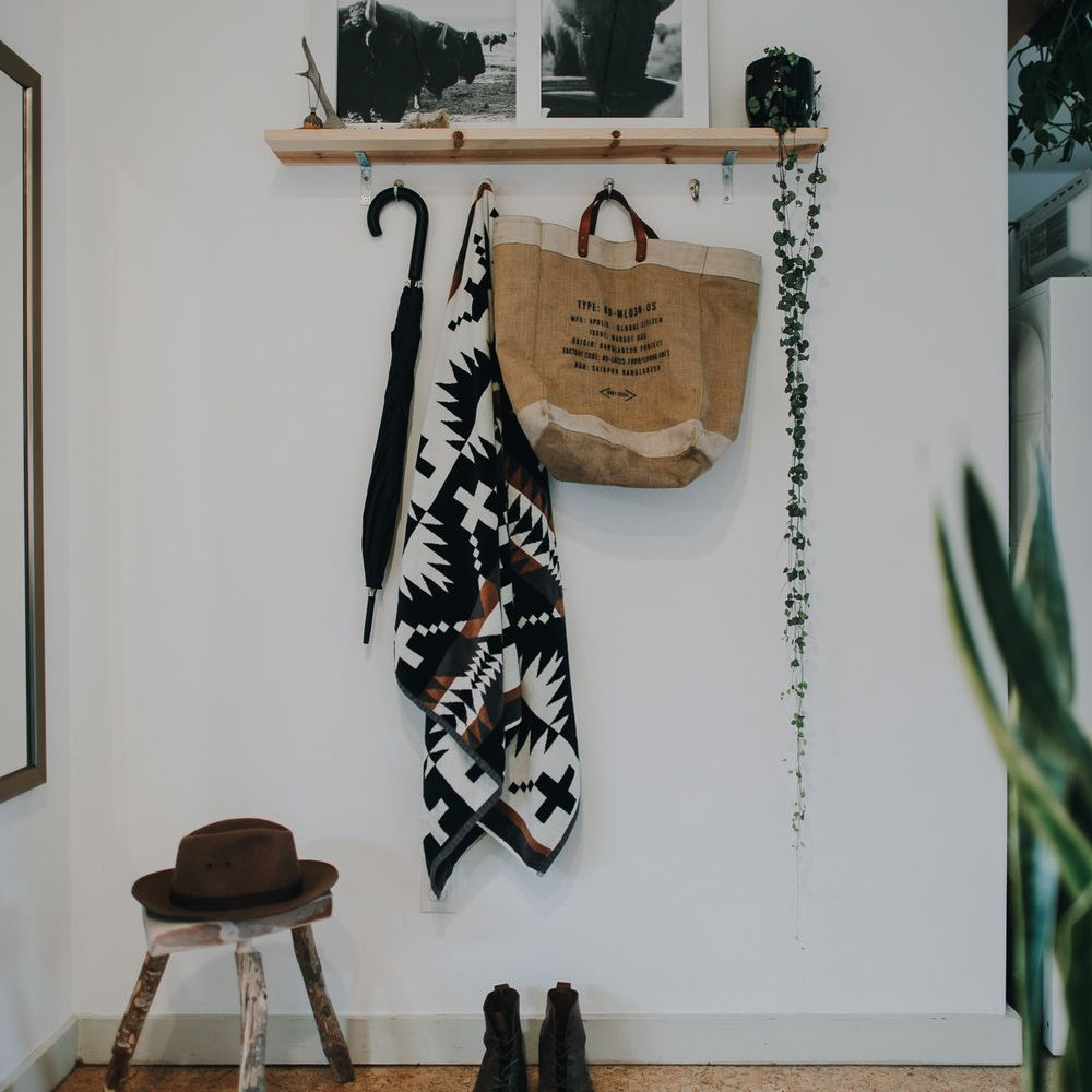 Front entryway with hooks
