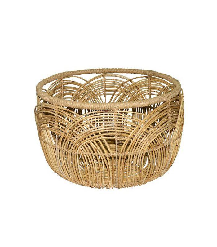 Threshold Woven Round Rattan Basket