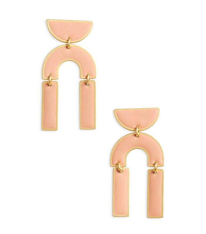 Modernism Half-Drop Earrings