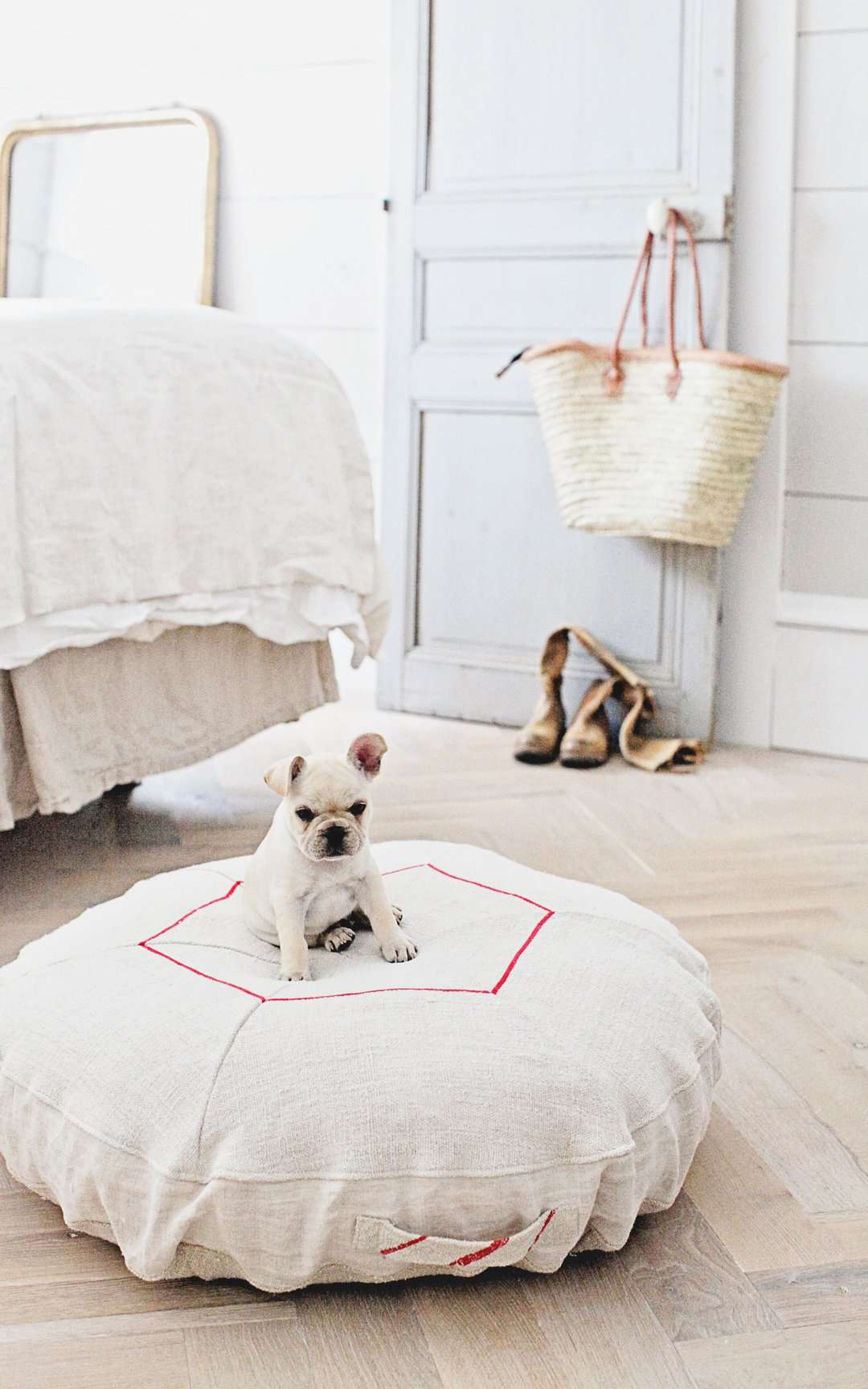 grain sack dog bed