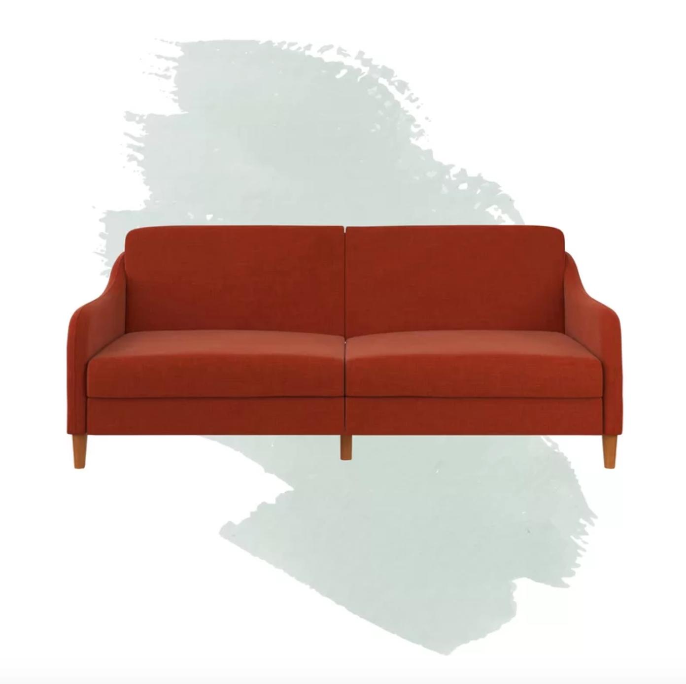 orange sleeper sofa
