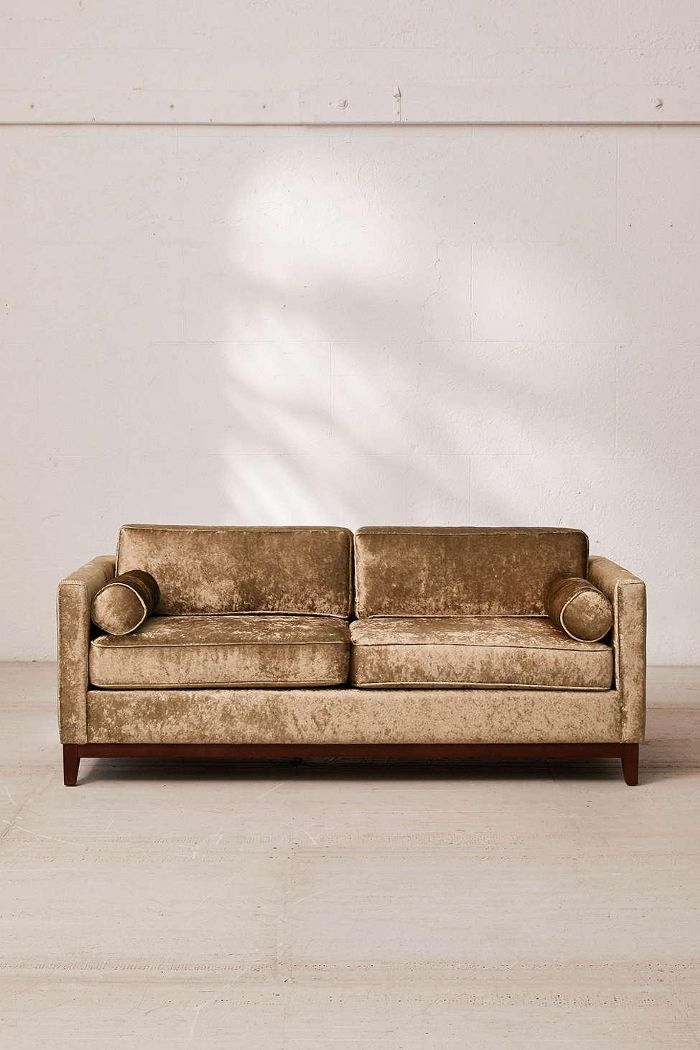 Piper Petite Crushed Velvet Sofa