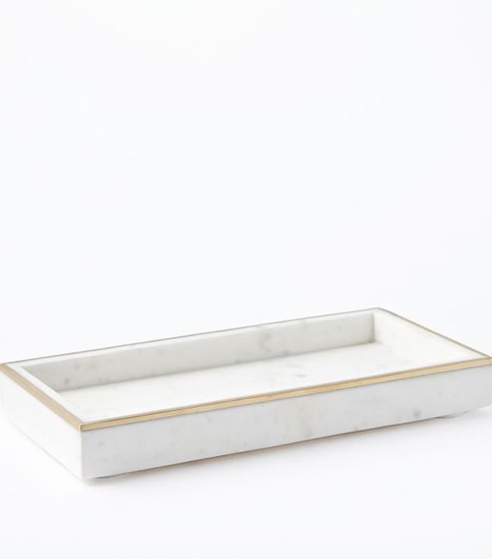West Elm Brass Inlay Marble Tray