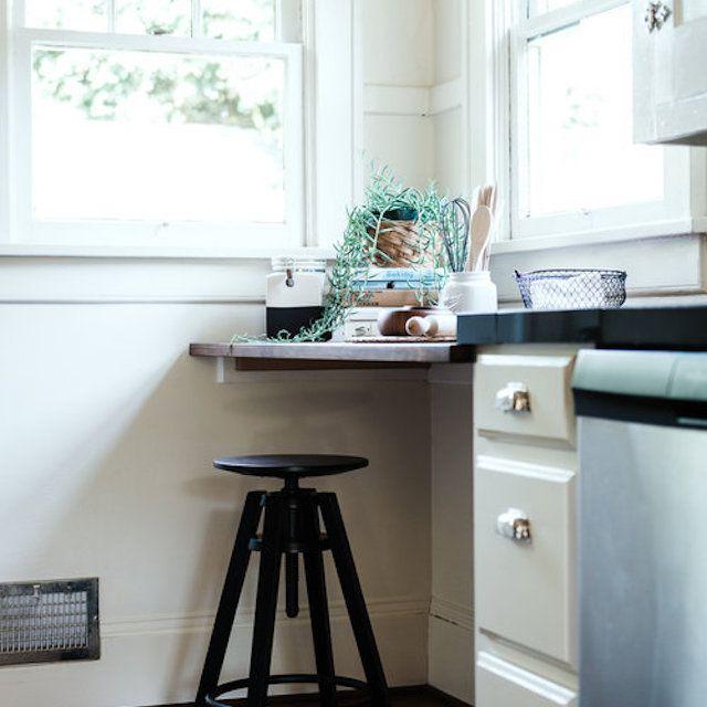 Multi-purpose kitchen and desk space