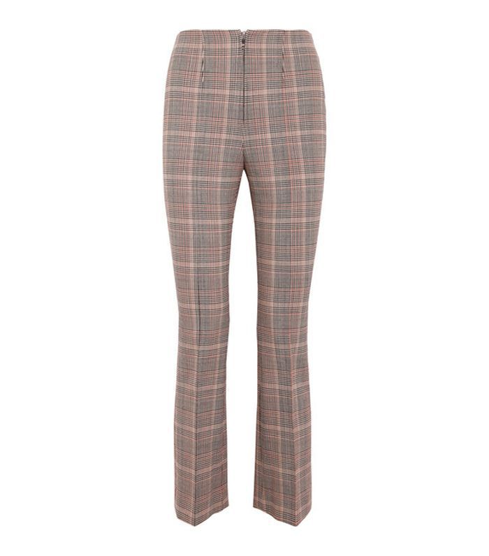 Checked Wool-blend Slim-leg Pants