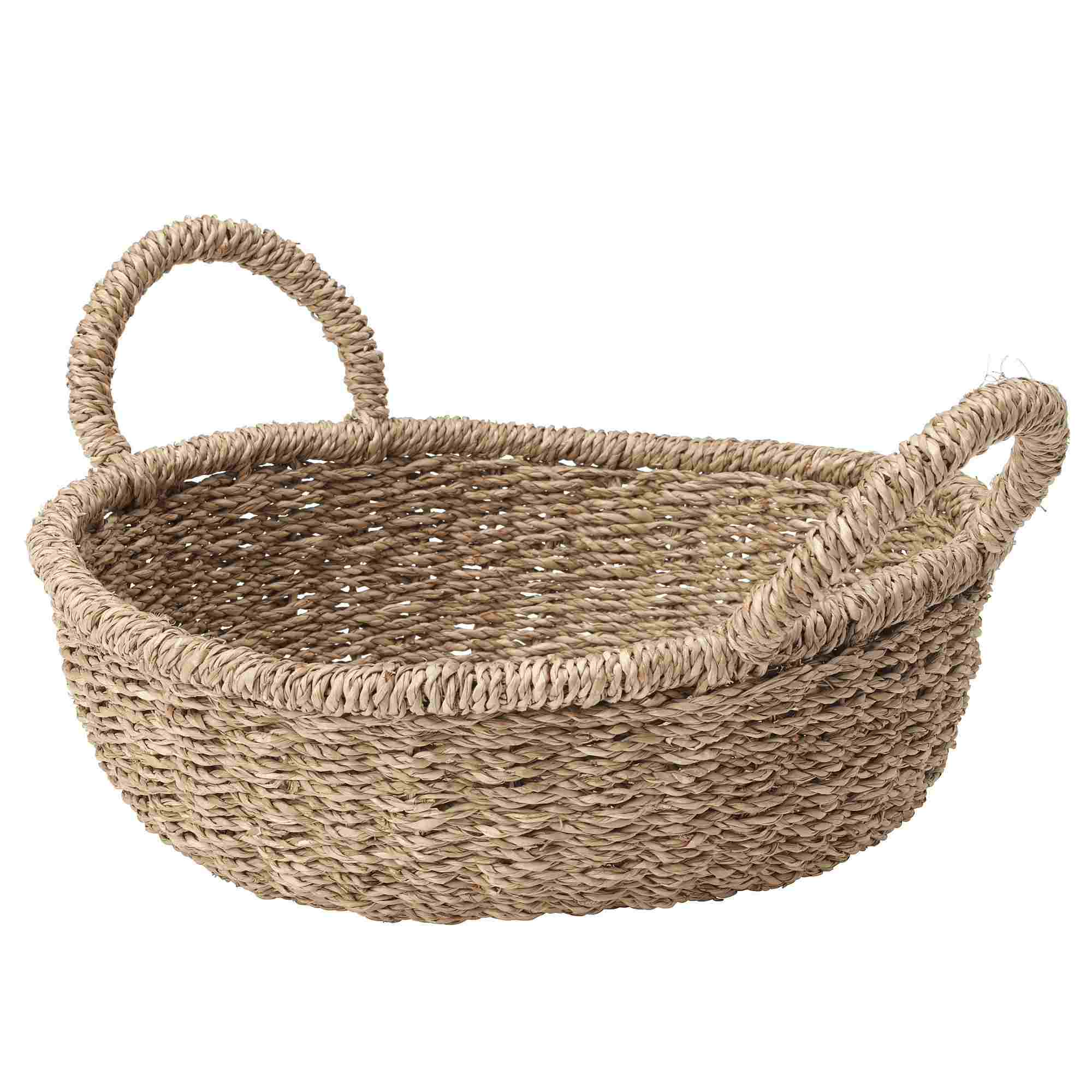 TÄNKVÄRD Small Seagrass Basket with Handles