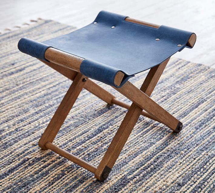 folding leather stool