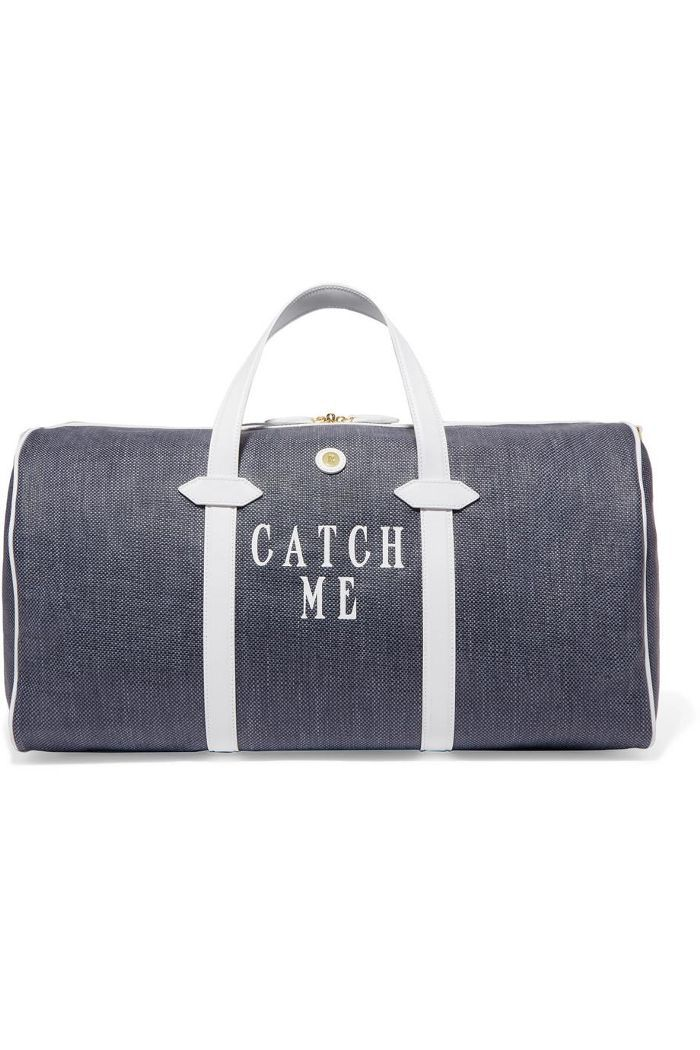 Main Line Duffel Leather-trimmed Printed Canvas Weekend Bag