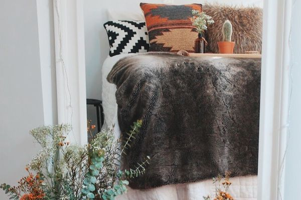 bedroom with southwestern details