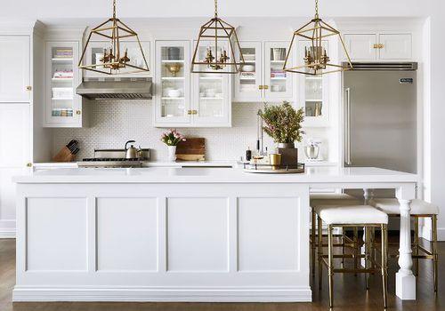 Ideas de cocina de pintura blanca cálida
