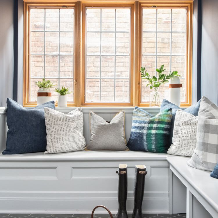 Mudroom with pillows