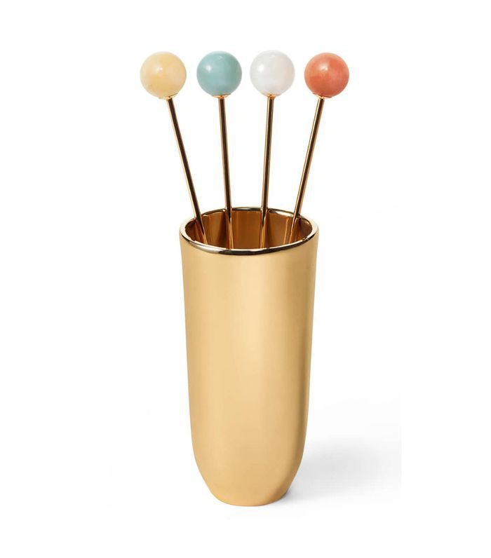 Aerin Annette Cocktail Sticks & Holder