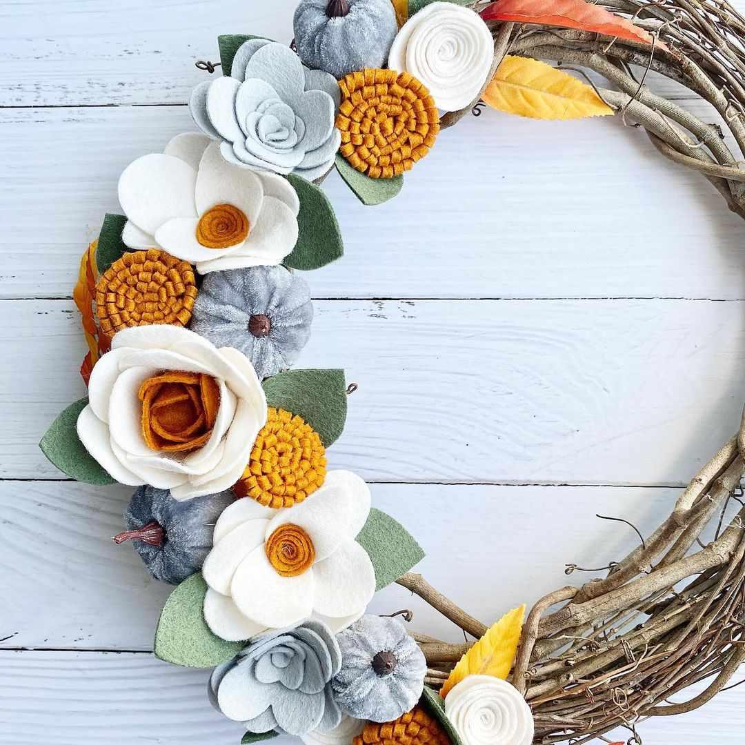 felt fall wreath