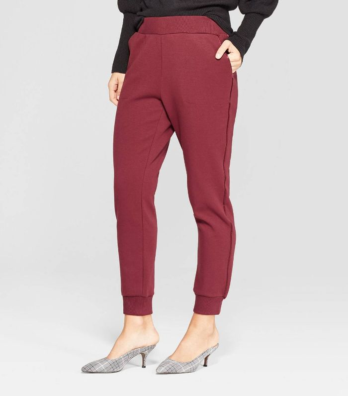 Who What Wear Pull On Track Ankle Pants