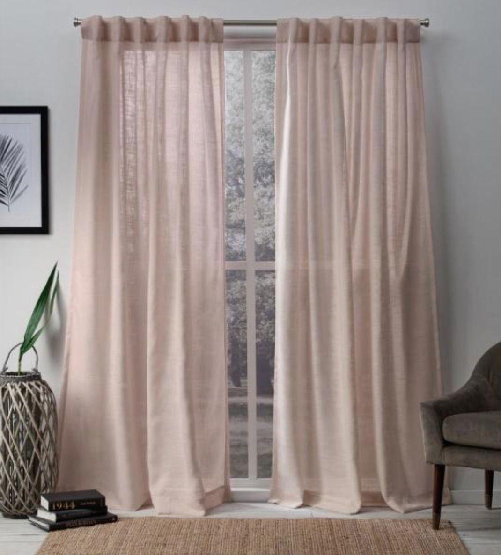 Sheer Hidden Tab Top Curtain