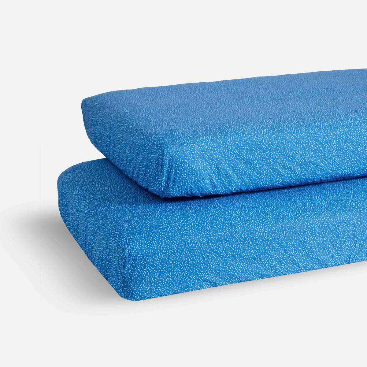 mini crib sheet set blue