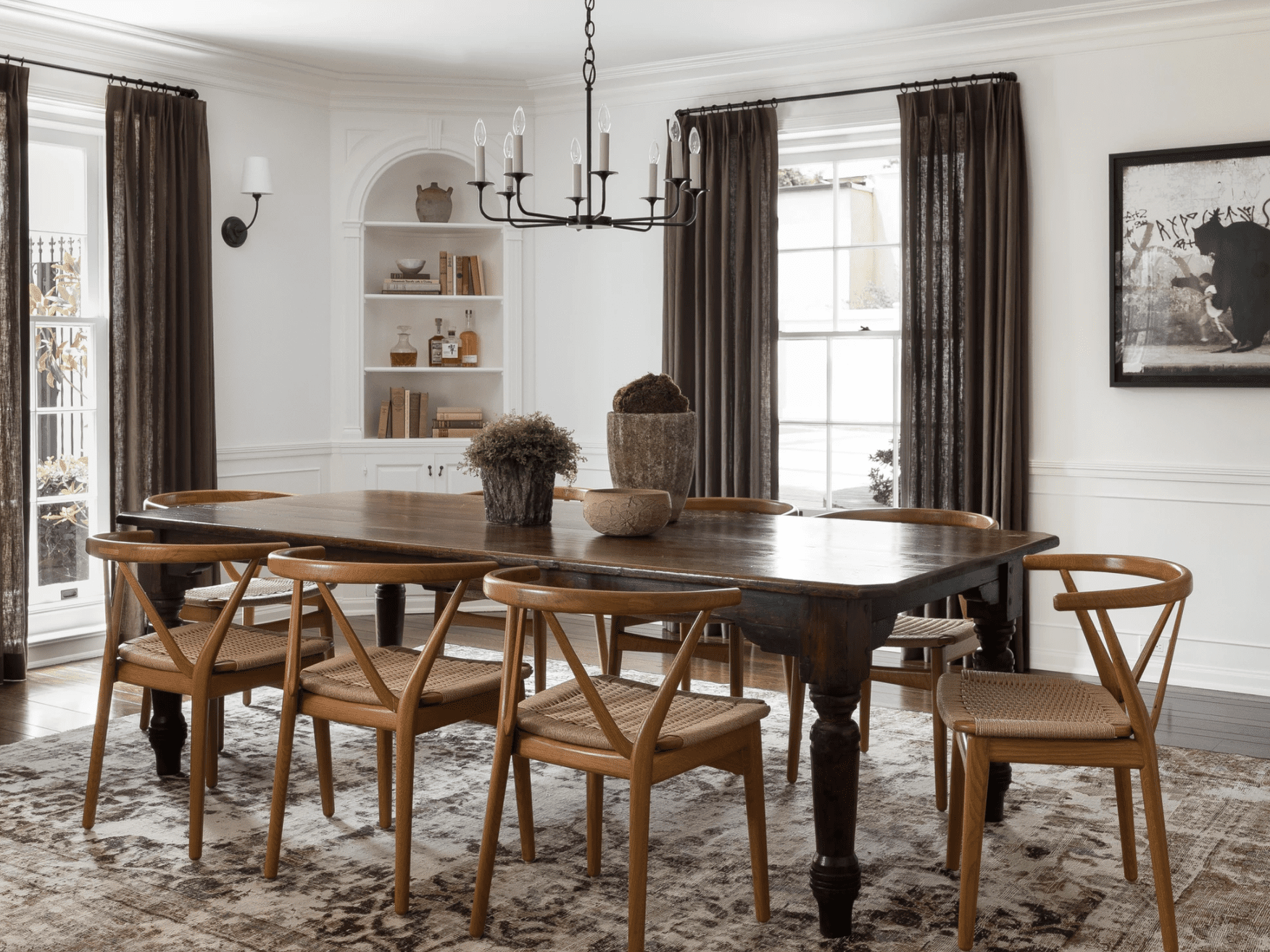 29 Standout Dining Room Curtain Ideas, Dining Room Curtains