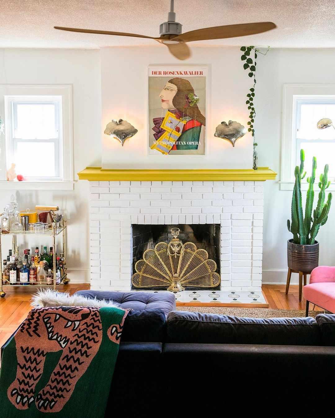 Eclectic boho living room.