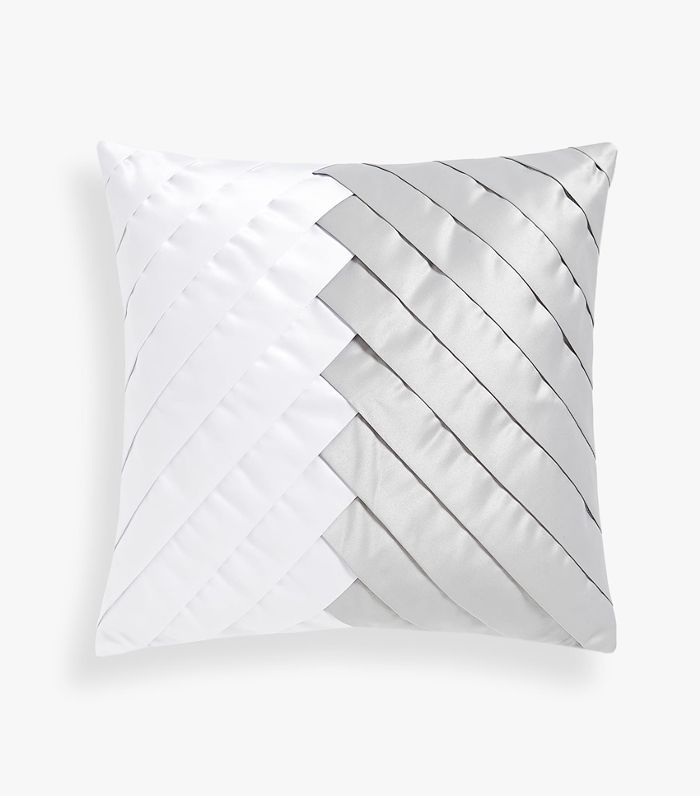 Zara Home Diagonal Pleated Throw Pillow Cover