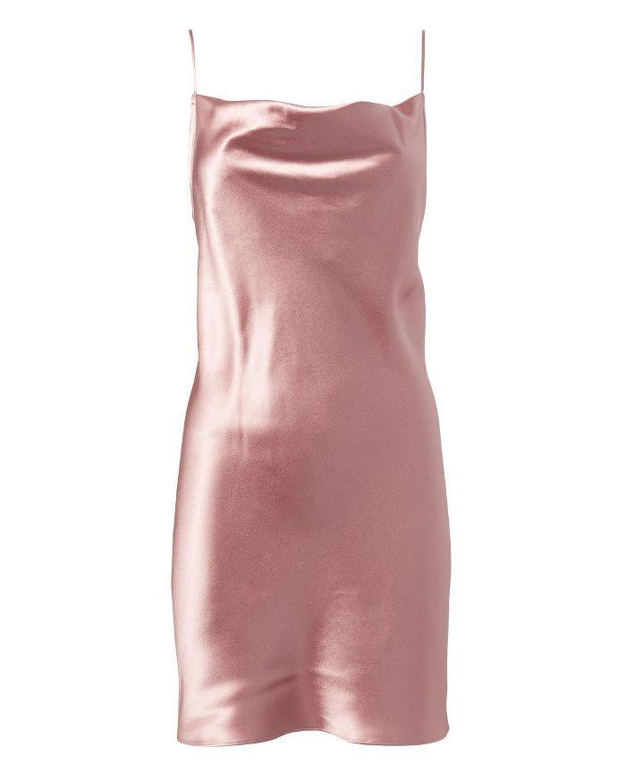 Fleur Du Mal Cowl Neck Slip Dress Rose M