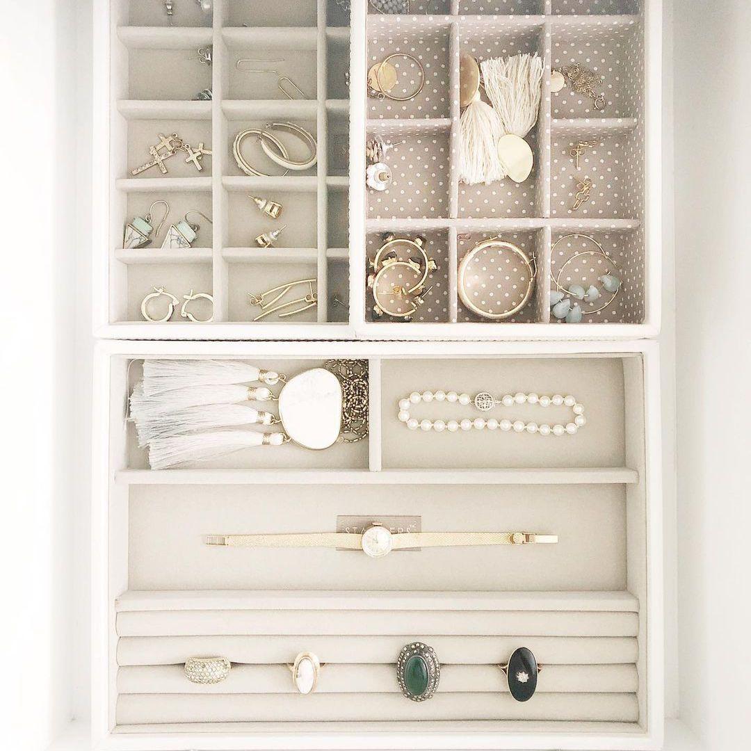 jewelry storage in a drawer minimalist