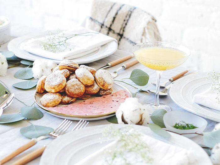 a grown-up Easter brunch table