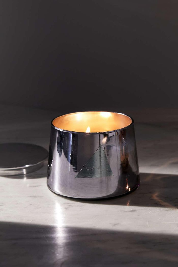 Chrome Boho Glass Candle