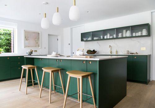 kelly green kitchen