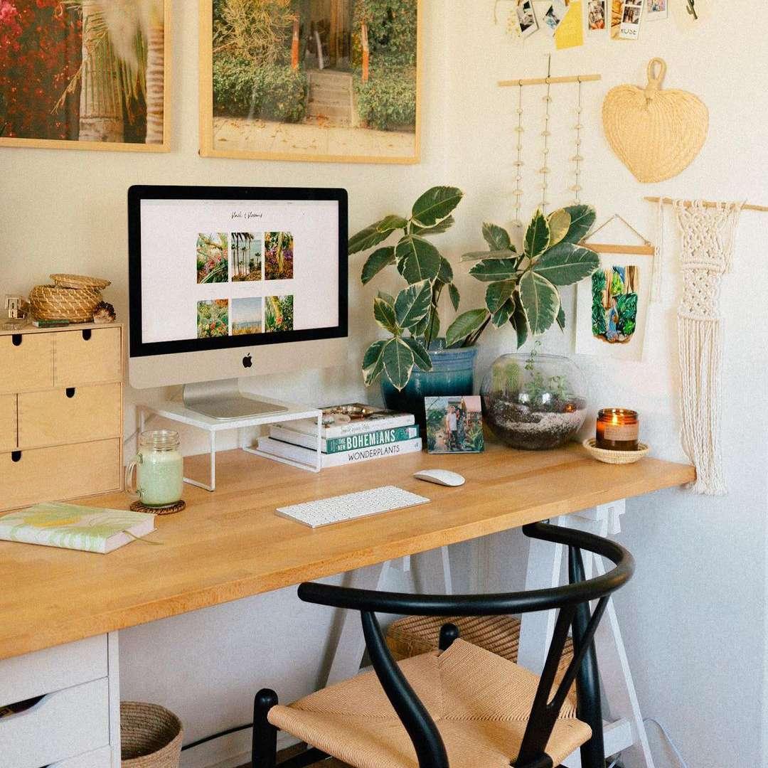 Boho desk decor