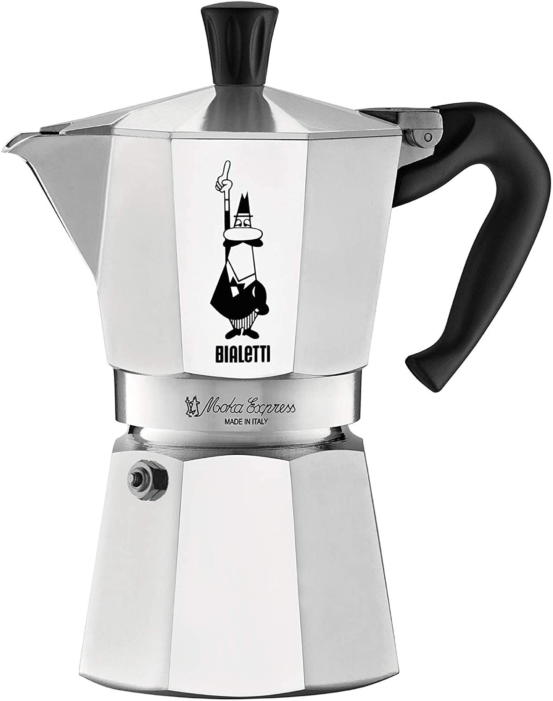 Bialetti Express Moka Pot, 6 -Cup, Aluminum Silver