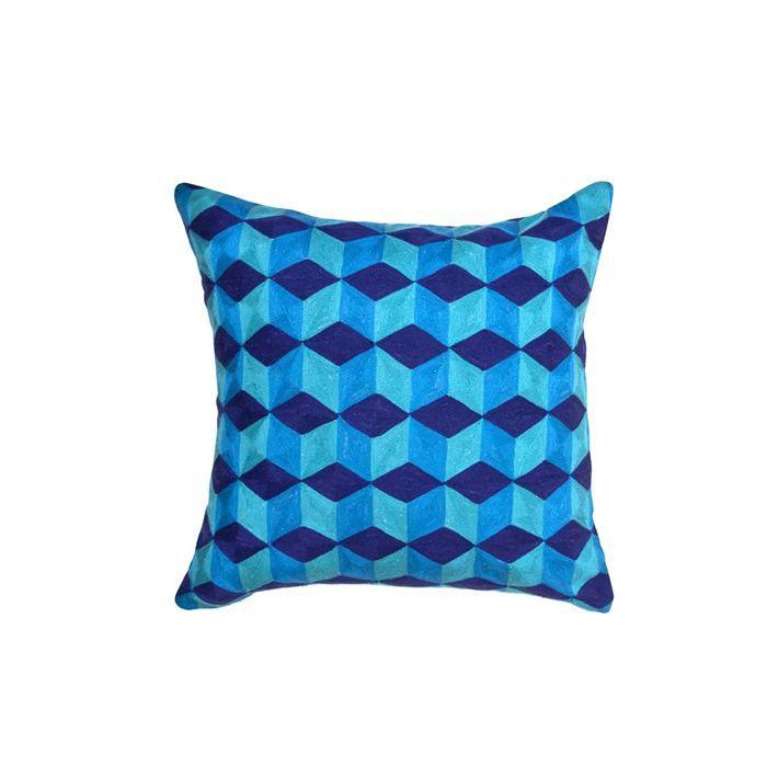 Jonathan Alder Jaipur Cubes Linen Throw Pillow