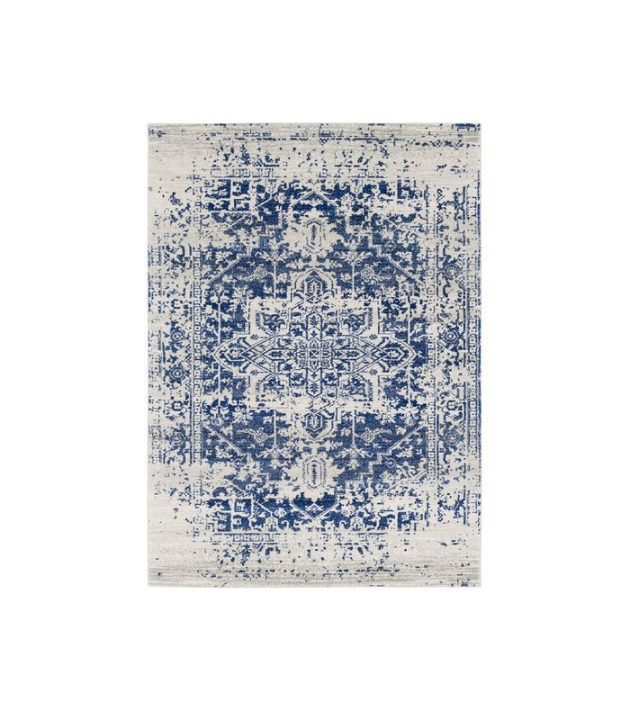 Lulu & Georgia Prisha Rug, White and Blue