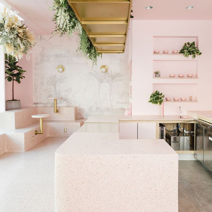 Holy Matcha—cafe design