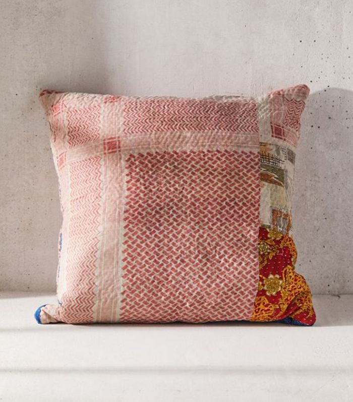 Urban Renewal One-Of-A-Kind Kantha Throw Pillow
