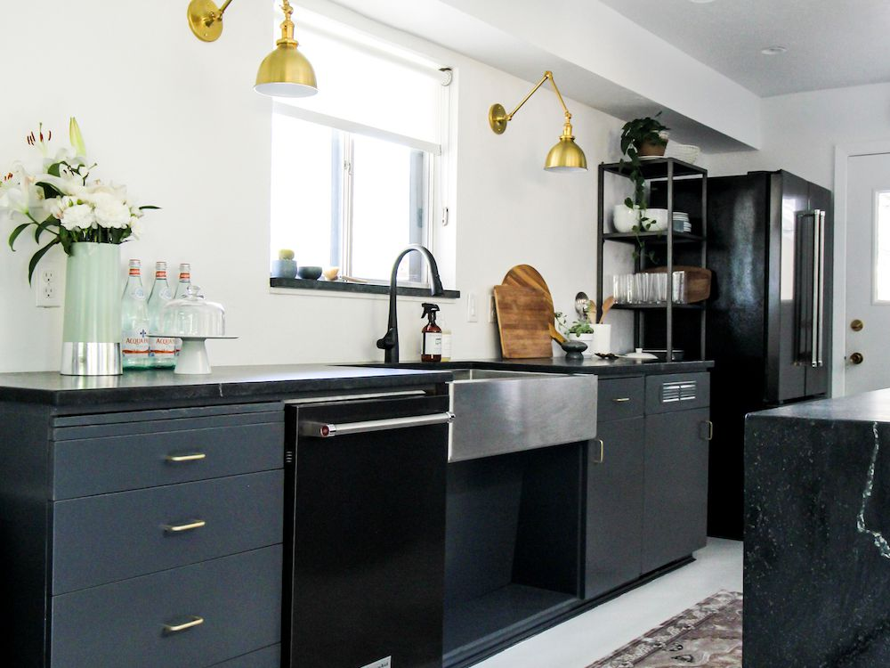 The 7 Best Kitchen Cabinet Paint Colors, Green Painted Kitchen Cabinets