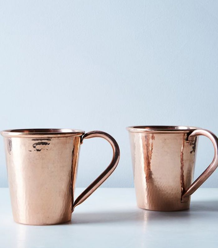 Sertodo Copper Hammered Copper Moscow Mule Mugs