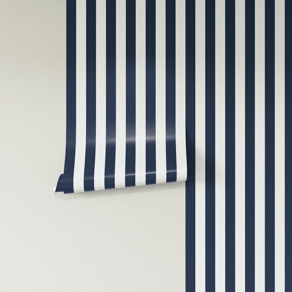 papel pintado de rayas de cabaña