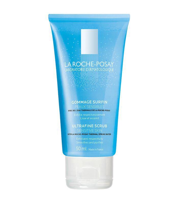 La Roche-Posay Ultra-Fine Exfoliating Scrub Face Wash for Sensitive Skin Drugstore Acne Washes