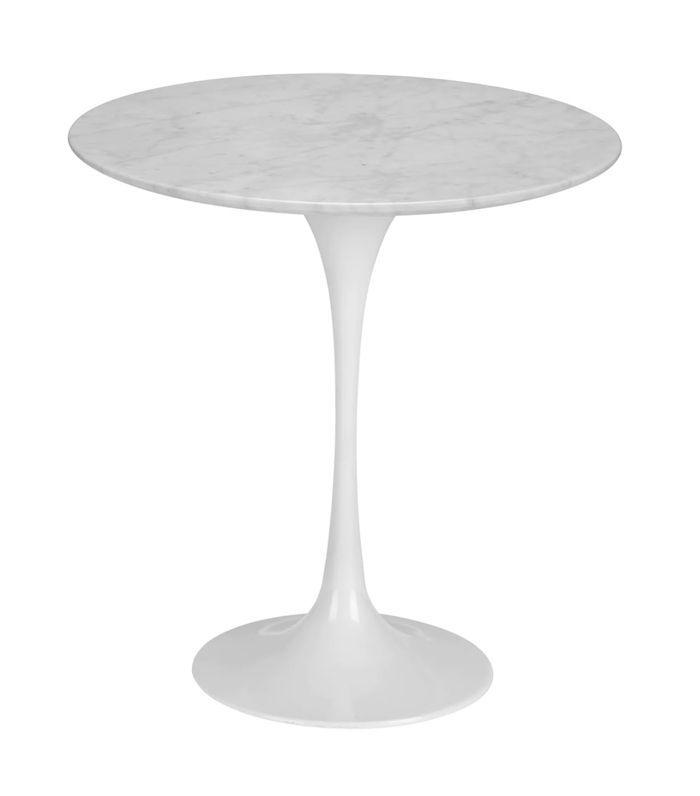 Poly and Bark Eero Saarinen Tulip Style Marble Side Table
