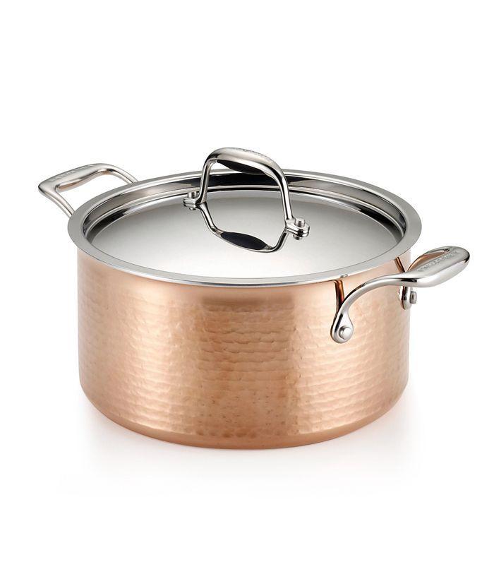 Lagostina Martellata Tri-Ply Copper 5 qt. Covered Stewpot
